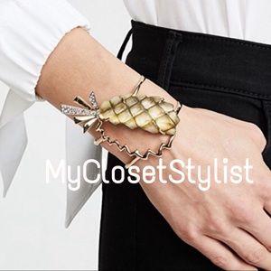 Alexis Bittar 10K Gold Pineapple NWT Cuff Bracelet